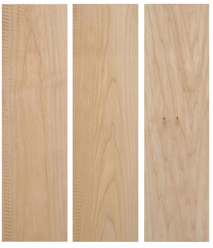 listones de madera maple rojo del pacificio